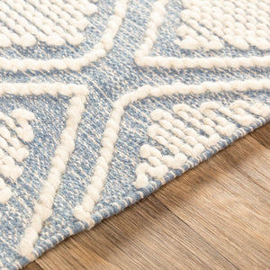 KELE WOOL + COTTON TEXTURED FLATWEAVE: DENIM