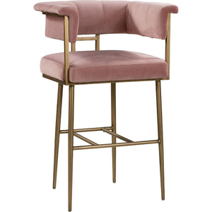 BIANCA VELVET BAR STOOL
