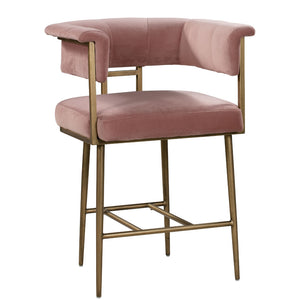 BIANCA VELVET COUNTER STOOL