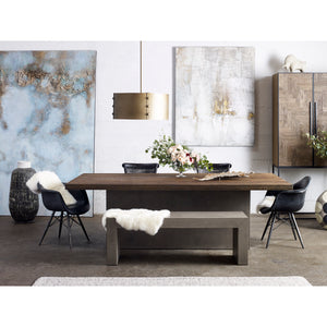 8' KAIA OAK + CONCRETE DINING TABLE
