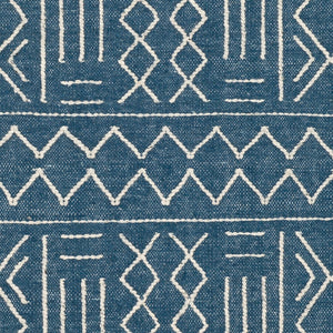 CHAYA TEXTURED WOOL FLATWEAVE: BLUE