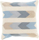 ARIZONA ARROWS KILIM PILLOW: DENIM, KHAKI