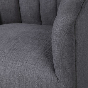 CLEO CHANNEL TUFTED SWIVEL CHAIR