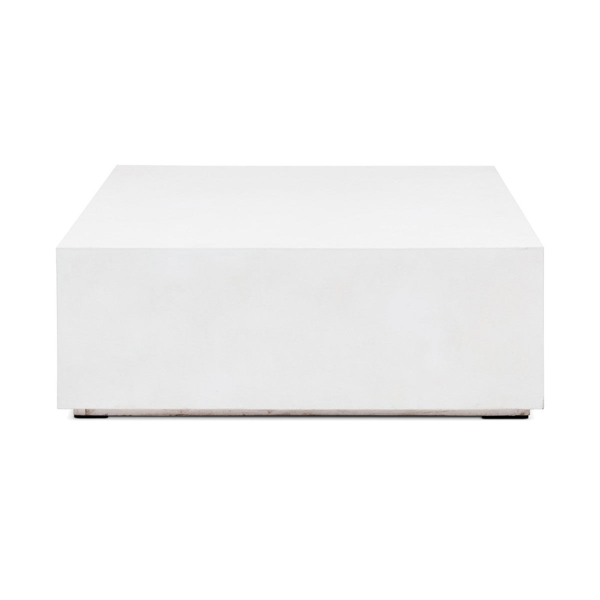 Picture of: Concrete Block Coffee Table Ivory White Industrial Modern The Design Tap