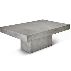 CONCRETE RECTANGULAR SLAB COFFEE TABLE