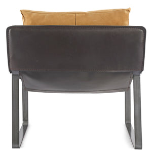 CONNOR TAN LEATHER SLING CHAIR