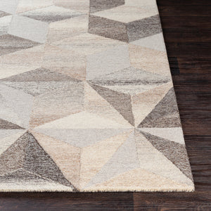 AGAMI WOOL RUG: STONE, TAUPE