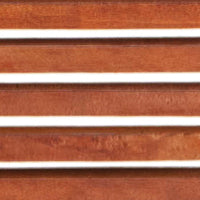 DAMANI 2 PANEL SLATTED WOOD SCREEN: BROWN