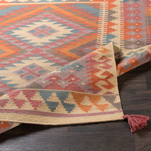 DEJA KILIM RUG: ORANGE SUNRISE