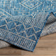 YONI OUTDOOR RUG: BLUE + WHITE