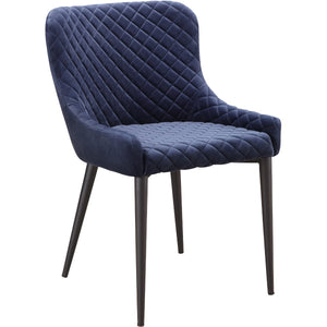ETTA DINING CHAIR: DARK BLUE