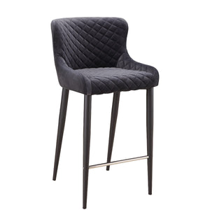 ETTA COUNTER STOOL: DARK GREY
