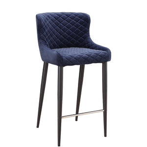 ETTA COUNTER STOOL: DARK BLUE