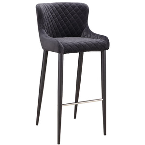ETTA BAR STOOL: DARK GREY