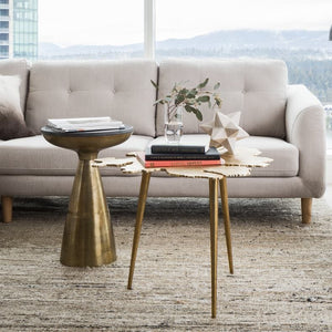 AMOEBA SIDE TABLE: GOLD