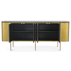 GATSBY BLACK MARBLE TOP SIDEBOARD
