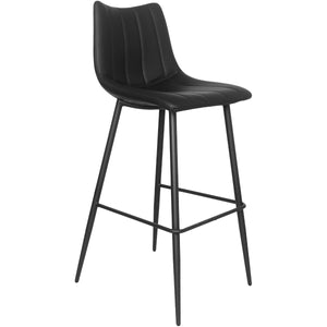 GLOVE BAR STOOL: BLACK | SET OF 2