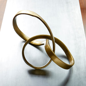GOLD INFINITY TABLE SCULPTURE