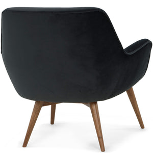 GRETCHEN ARM CHAIR: SHADOW GRAY VELVET