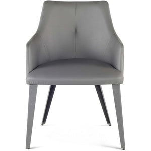 HARVEY LEATHERETTE DINING ARM CHAIR