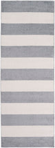 CHUNKY STRIPES RUG: GRAY + WHITE