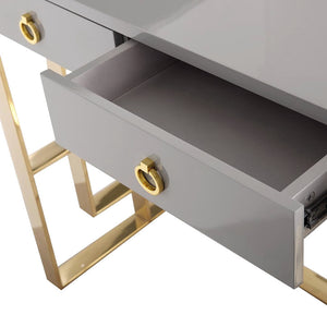 HUTTON GRAY LACQUER DESK
