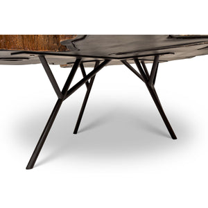 EASTON BRASS FREE FORM ALUMINUM COFFEE TABLE