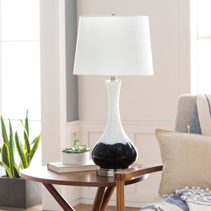 INK DIPPED WHITE GLASS LAMP