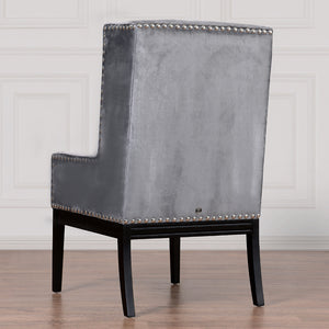 JAMESON CAPTAIN CHAIR: GRAY VELVET