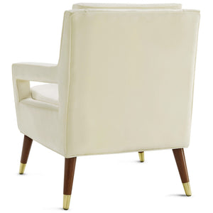 JASEN ARM CHAIR: CREAM VELVET