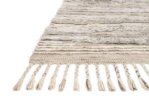 KHALID HAND-KNOTTED TEXTURED WOOL RUG: NATURAL, IVORY