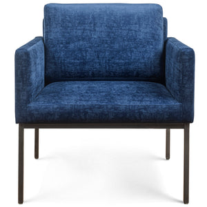 KLEIN VELVET ARM CHAIR