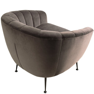 MARSHALL GREY VELVET CHAIR