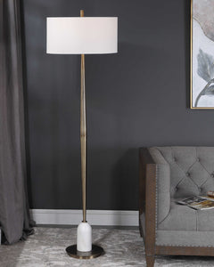 MINETTE BRASS + MARBLE FLOOR LAMP