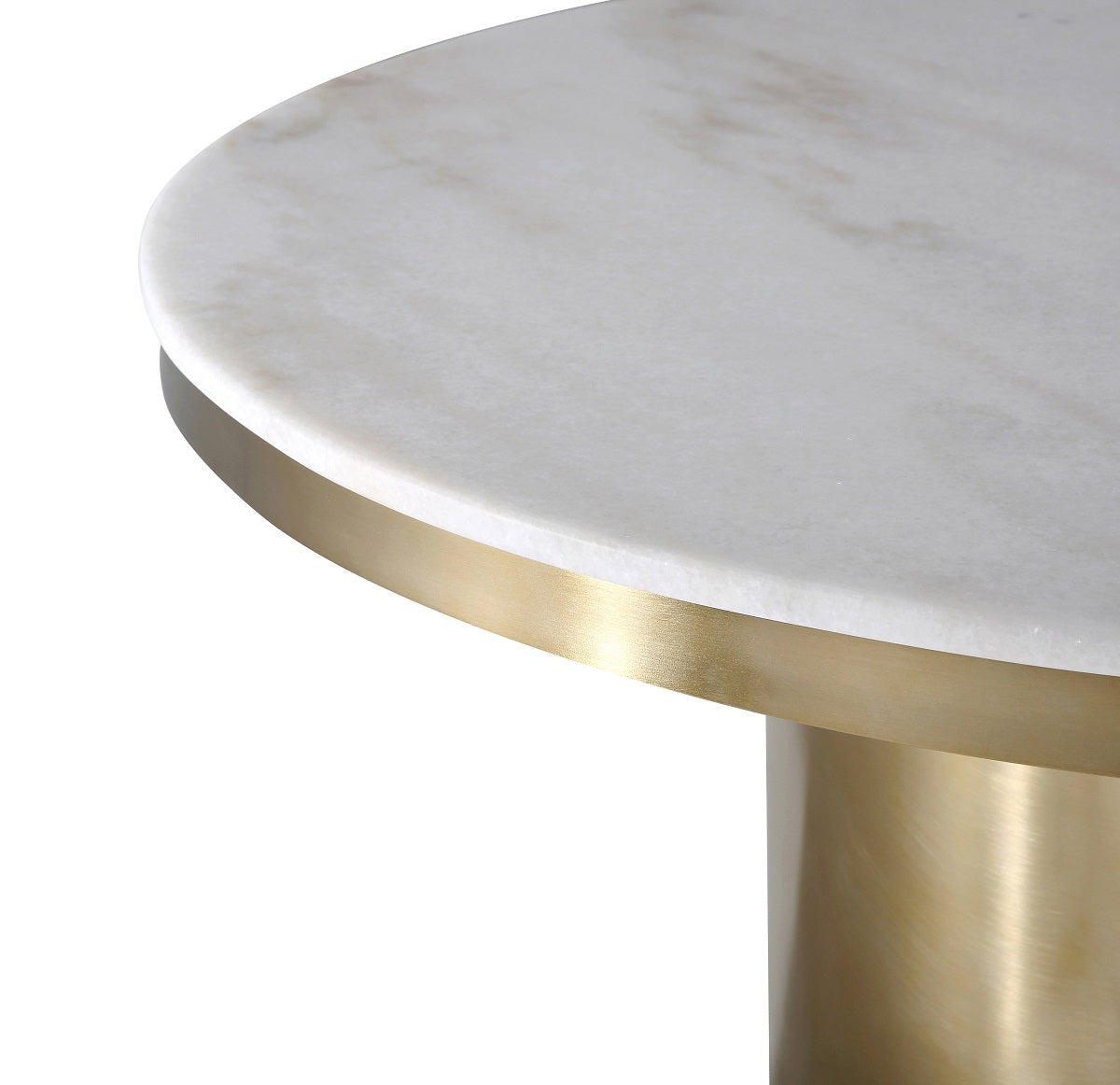 9' ROUND NOIR MARBLE TOP PEDESTAL DINING TABLE
