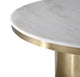 4' ROUND NOIR MARBLE TOP PEDESTAL DINING TABLE