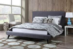 OWEN MID-CENTURY PLATFORM BED: GRAY