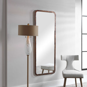 OXIDIZED COPPER RAW EDGE TALL MIRROR
