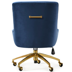 PIPER NAVY VELVET SWIVEL OFFICE CHAIR