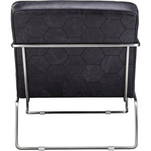 DESMOND CLUB CHAIR: BLACK