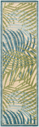 TROPICS OUTDOOR RUG: AQUA, LIME