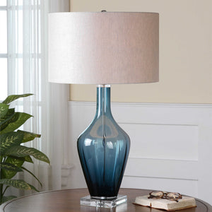 REYA BLUE GLASS LAMP