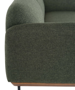 ROONEY SOFA: HUNTER GREEN TWEED
