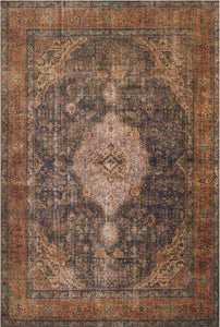 FREIDA RUG: PLUM, BURNT ORANGE