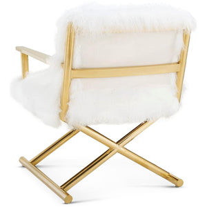 SHEEPSKIN SHAG DIRECTOR'S CHAIR