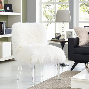 SHERPA SHAG SLIPPER CHAIR