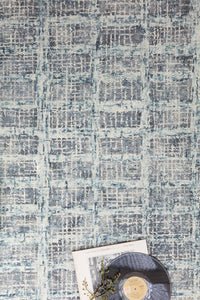 SLOANE HOOKED WOOL RUG: BLUE STEEL
