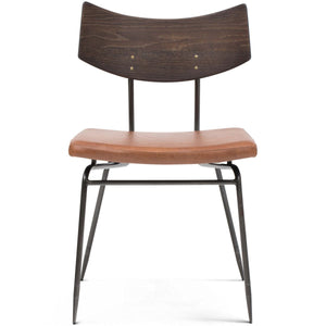 Caramel Leather Dining Chair