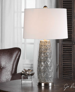 SONORA STONE GRAY CERAMIC LAMP