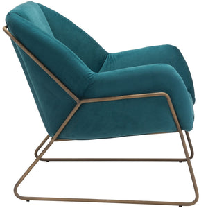 SUNDAY CHAIR: TEAL VELVET
